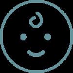 Eczema Baby Clothes Icon